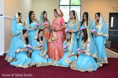 Glamorous Indian bride and  bridesmaids outfits.