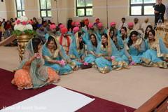 Indian bridesmaid and groomsmen capture.