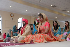 Lovely Indian bride at her wedding ceremony ritual capture.