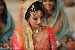 Marvelous capture of Indian bride at her wedding ceremony.