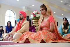 Charming Indian bride and groom's capture.