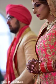 Maharani during her wedding ceremony rituals.