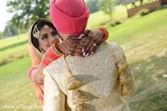 Outdoor gardens Indian wedding photo shoot.