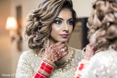Flawless indian bride reception makeup.