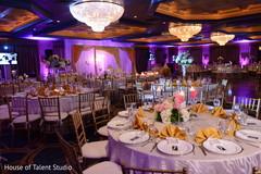 Elegant indian wedding reception table design.