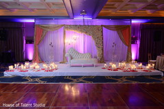 Wonderful Indian wedding reception stage decor.