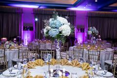 Fascinating Indian wedding reception flowers decoration.