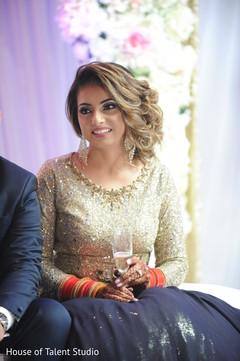 Indian bride smiling capture.