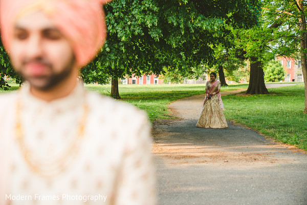Sweet indian bride about to meet the groom