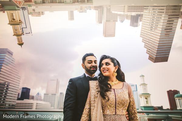 Indian lovebirds posing for photoshoot