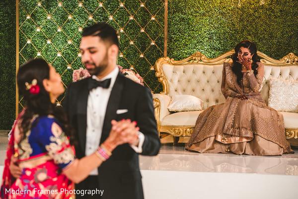 Indian groom dancing with his mother sweet scene