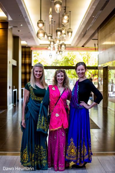 Gorgeous Indian bridesmaids capture.