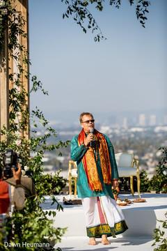 Indian priest during speech capture.