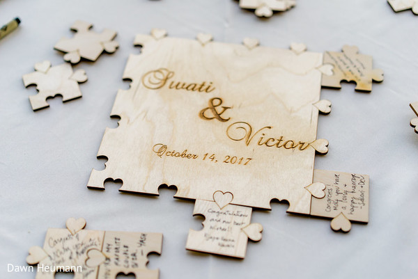 indian guest book,indian wedding puzzle.