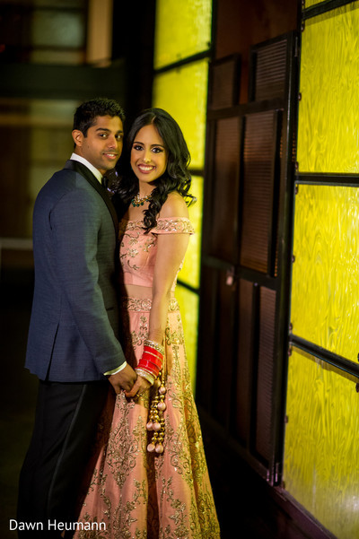 indian bride and groom,indian pre-wedding fashion,indian sangeet fashion