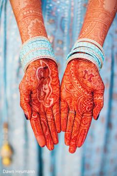 Incredible Indian bridal mehndi and bangles.