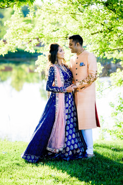 Enchanting indian lovebirds outdoor photoshoot