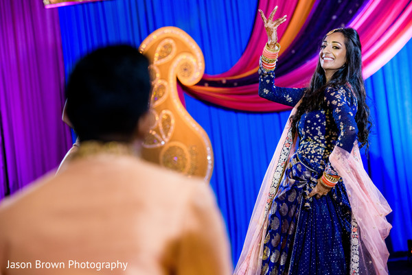 Traditional indian bride's performance