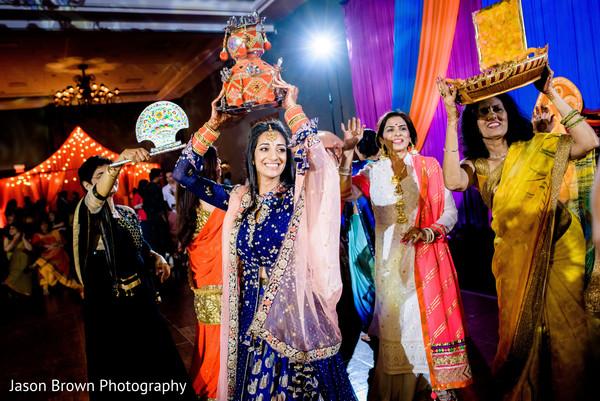 Vibrant indian bride's dance performance
