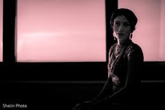 Indian bride's silhouette capture.