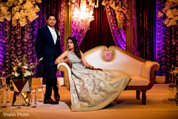 Glowing Indian bride and groom's capture.
