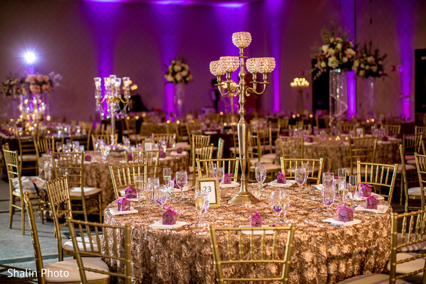 Dreamy indian wedding reception table set up.