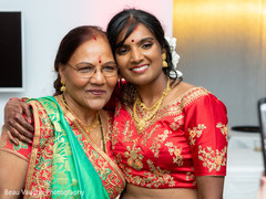 Glamorous indian bride  and parent photography.