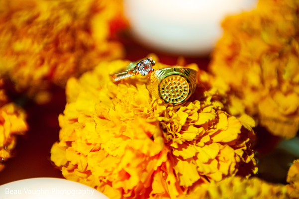 Stunning Indian engagement rings portrait.