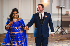 Indian couple making their entrance