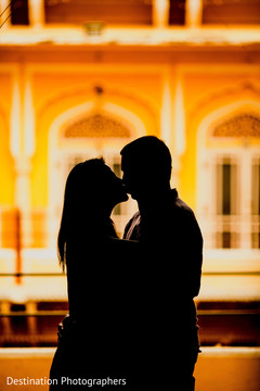 Indian bride and groom silhouette
