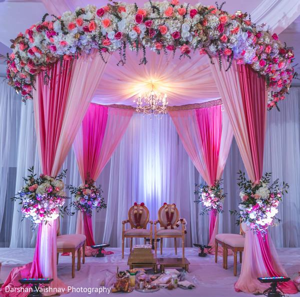 Marvelous Indian Wedding Ceremony Mandap Decoration Photo