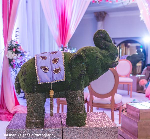 Marvelous Indian wedding ceremony elephant decoration.