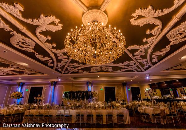 Fabulous Indian wedding venue chandelier