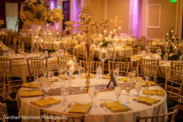 Simple and elegant indian wedding table set up