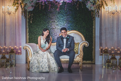 Indian couple at their reception stage