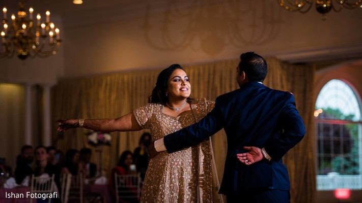 first dance,indian wedding reception