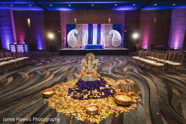 indian pre-wedding decor,sangeet,ganesha puja,mandap