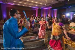 Beautiful Indian pre-wedding Garba celebration.