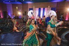 Maharani and maharaja at their sangeet celebration.