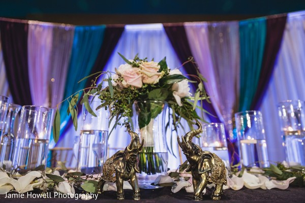 indian wedding roses decor,indian wedding reception decor,elephants