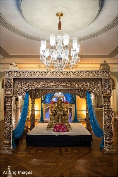 mandap,indian wedding ceremony decor,ganesha puja,indian religions