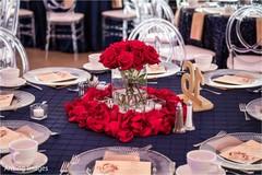 Dreamy Indian wedding flower table decoration.