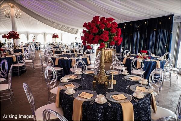indian wedding reception table,indian wedding table centerpiece decor,indian wedding roses decor
