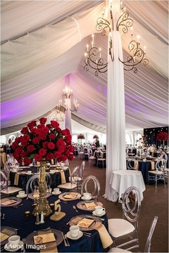 Elegant Indian wedding reception table centerpiece decoration.