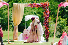 Indian bride and groom sweet shot