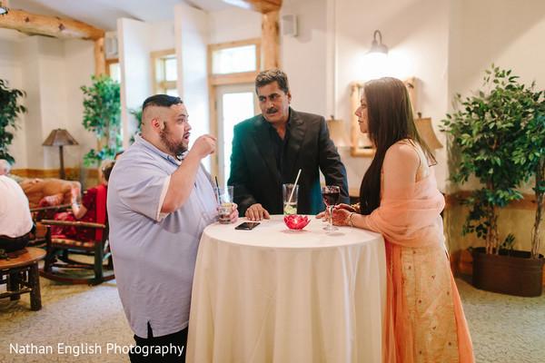 Indian wedding reception guests capture