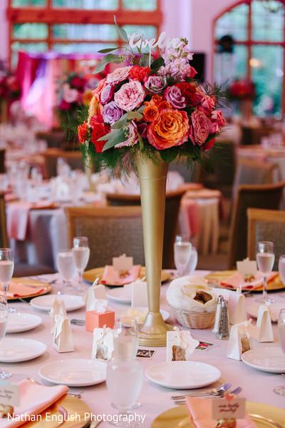 Dazzling tall floral centerpiece