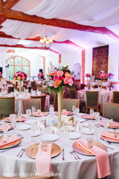 Astonishing indian wedding reception table decor