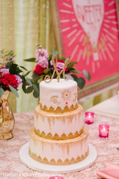 Delightful indian wedding cake