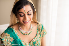 Indian bride smiling capture